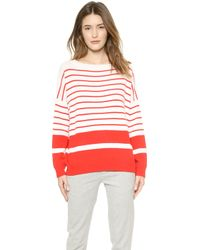 Vince Banded Rib Cashmere Sweater - Tomatooff White - Lyst