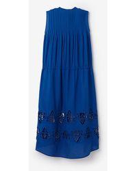 Sea French Knots Sleeveless Dress blue - Lyst
