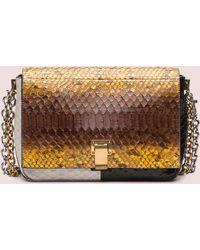 Proenza Schouler Ps Courier Double-Chain Python Small Shoulder Bag multicolor - Lyst