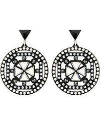 Swarovski Belle Geometric Pierced Earrings - Lyst