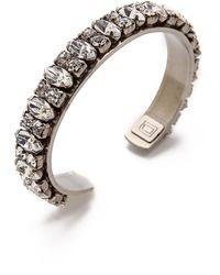 Dannijo Alla Bracelet Silvercrystal - Lyst