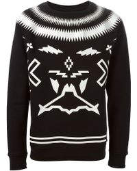 Marcelo Burlon Digital Print Sweatshirt black - Lyst