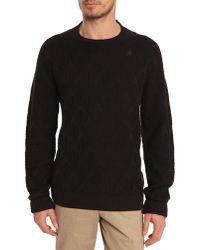 G-Star RAW Away Navy Jacquard Sweater - Lyst