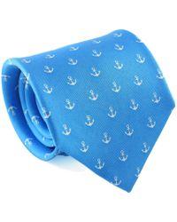 Reef Knots - Anchors Silk Tie Blue - Lyst