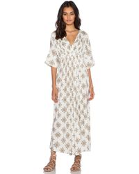 Free People Embroidered V-Neck Dress - Ivory Combo multicolor - Lyst