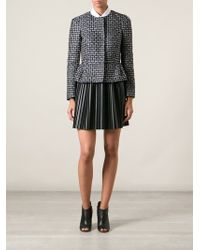 RED Valentino Patterned Peplum Jacket - Lyst
