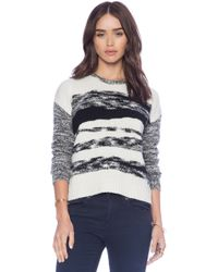 Autumn Cashmere Mixed Yarn Intarsia Sweater - Lyst