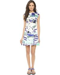 Kenzo Torn Paper Dress - White - Lyst