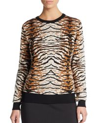 Torn By Ronny Kobo Shauna Tiger-Knit Sweater - Lyst