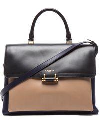 Lanvin Calfskin Top Handle Bag - Lyst