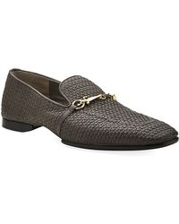 Cesare Paciotti - Woven Leather Drivers - Lyst