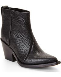 Acne Studios Black Donna Booties - Lyst