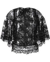 Elie Saab Black Lace Butterfly Sleeve Tunic - Lyst