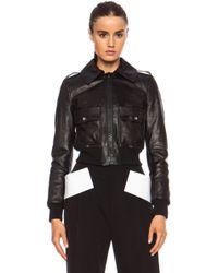 Givenchy Leather Bomber Jacket - Lyst
