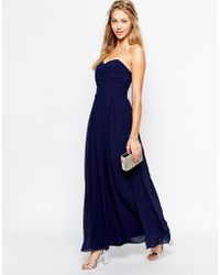 TFNC Maxi Dress With Pleated Bust And Full Lining - Lyst