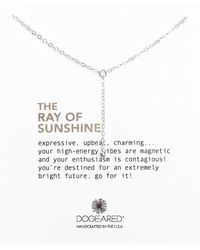 Dogeared - Ray Of Sunshine Sterling Silver Y Necklace - Lyst