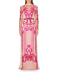 Temperley London Catroux Embroidered Gown Red - Lyst