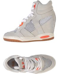 Ash Gray High-tops  Trainers - Lyst