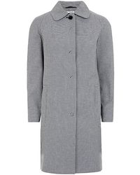 Carven Checked Raincoat - Lyst