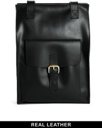 Asos Vintage Style Leather Backpack - Lyst