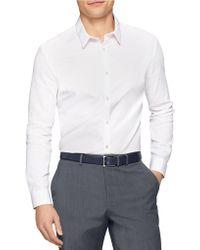 Calvin Klein Premium Piece Dye Mesh Shirt - Lyst