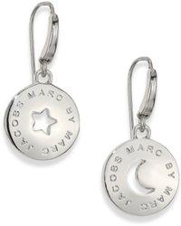 Marc By Marc Jacobs Lunar Coin Drop Earrings - Lyst