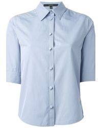 Gucci Blue Cropped Shirt - Lyst