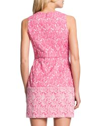 Cynthia Steffe Aniston Printed Invertedpleat Dress - Lyst