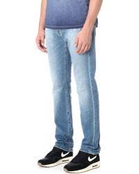 True Religion Geno Slim-straight Distressed Denim Jeans - Blue