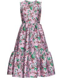 Jonathan Saunders - Lucille Floral-jacquard Sleeveless Dress - Lyst