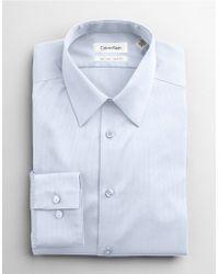 Calvin Klein Cotton Slimfit Dress Shirt - Lyst