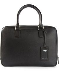 Giorgio Armani Classic Zip Briefcase - Lyst