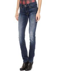 Hudson Tilda Mid Rise Straight Jeans  - Lyst