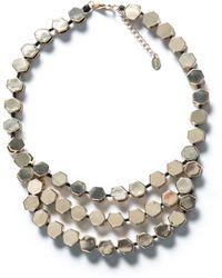 Zara Three Strand Necklace - Lyst
