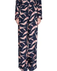 """Valentino """"birds"""" Pyjama Trousers - Blue"""
