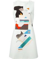 Victoria, Victoria Beckham Geometric Appliqué Dress - Lyst