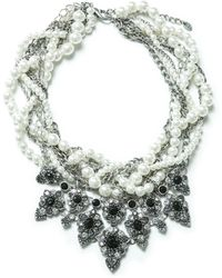 Zara Pearls and Chains Necklace - Lyst