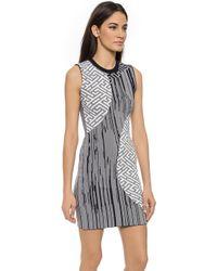 Kenzo Pin Stripes Combo Dress - Deep Sea Blue - Lyst