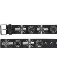 Fausto Puglisi Embellished Nappa Leather Belt - Black