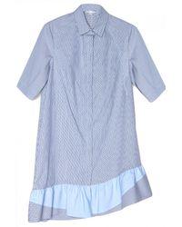 Thakoon Addition - Stripe Ruffle Hem Shirt Dress - Lyst