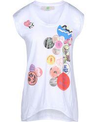 Stella McCartney | White Badges T-shirt | Lyst
