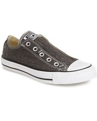 Converse Chuck Taylor All Star 'Washed' Slip-On black - Lyst
