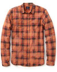 Scotch & Soda Japanese Plaid Work Shirt - Orange