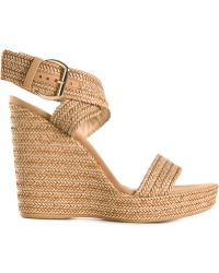Stuart Weitzman Wedge Sandals - Lyst