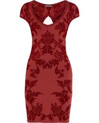 Zac Posen Flocked Jersey Dress - Lyst