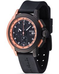 Ritmo Mundo - Quantum Ii Collection Stainless Steel & Rose Gold Watch, 43mm - Lyst