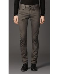Burberry Shoreditch Dyed Twill Skinny Fit Jeans - Lyst