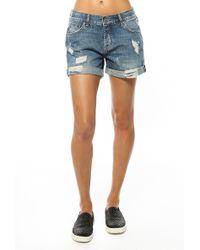 Anine Bing Boyfriend Shorts - Lyst