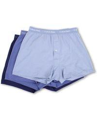 Calvin Klein Cotton Classic Knit Boxer 3pack - Lyst