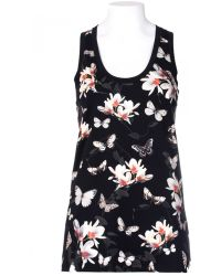 Givenchy Tank In Cotton Magnolia Print Applied - Lyst